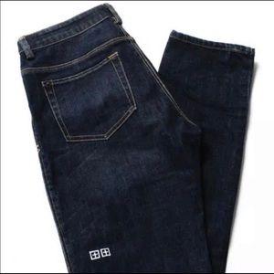 Ksubi dark blue high-rise skinny jeans